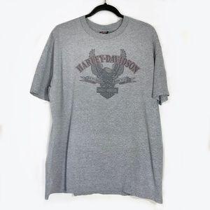 Harley Davidson Gray Tee Superstition Harley XL